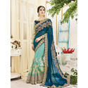 Ladies Georgette Stone Work Saree, Size: 6.3 M