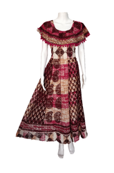 Printed Round Casual Wear Cotton Poncho Jaipuri Frock