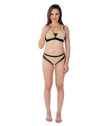 Skin Solid Velvet Attire Women Cotton Color Bra And Panty Set 8f0bdd5cf