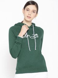 Hooded Cotton Fleece Full Sleeve Women Sweatshirt