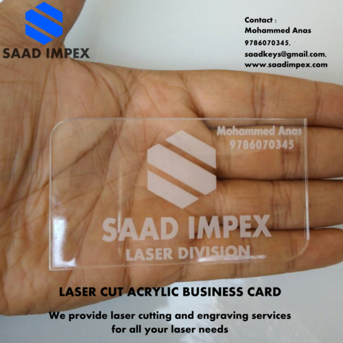 Acrylic business cards at rs 10 piece acrylic business cards colourmoves