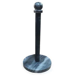 Grey Black Marble Kitchen Paper Towel Holder with SS Pipe