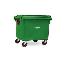 HDPE Green Sintex Wheeled Dustbin 1100ltr