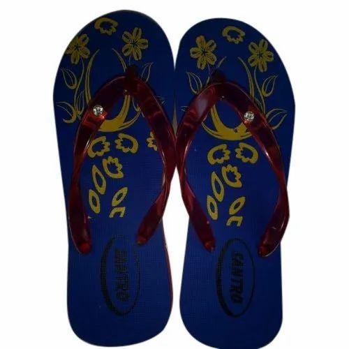 ae59cd490990 Santro Printed Ladies Rubber Slipper