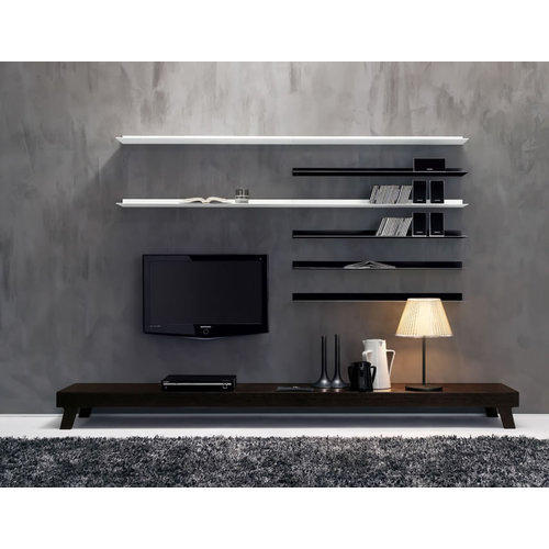 Hekami Solid Wood Designer LCD TV Wall Cabinet