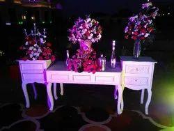 Wood Wedding Flower Table