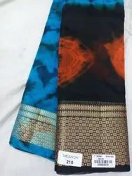 Fancy Bandhini Print Tusser Silk Saree, Length: 6.3 m (With Blouse Piece)