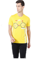 Peter England Yellow Men T Shirt