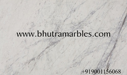 White Marble Slab for Flooring, Thickness: 10-15 and 15-20 mm