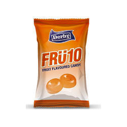 Fru10 Orange Candy, Packaging Type: Poly