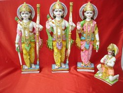 1 Feet Marble Ram Darbar Statue