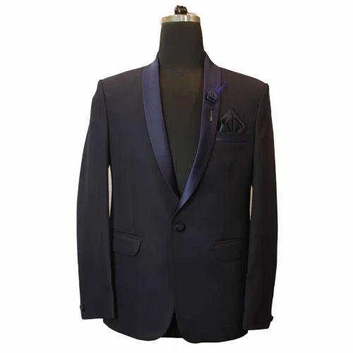 079d3cad4a1e Cotton S-XL Mens Party Wear Black 2 Pieces Suit