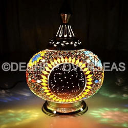 Multi Mosaic Table Lamp