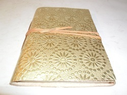 Golden Embossed Handmade Leather Journal