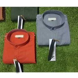 Cotton Fabric Plain Shirt