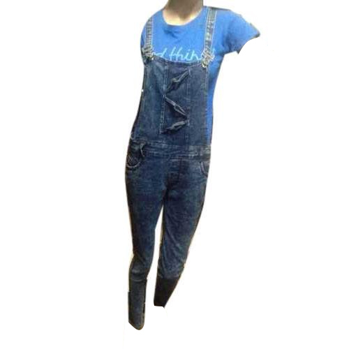 baf7fb95921 Denim Ladies Plain Dungaree