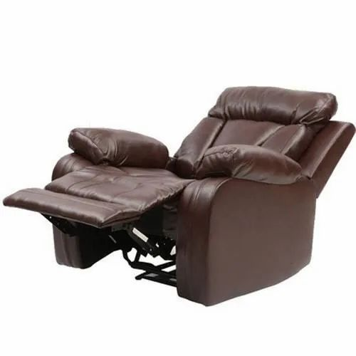 Dms Furnitures Leather Brown Recliner