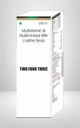 Multivitamin & Multimineral With L Lysine Syrup