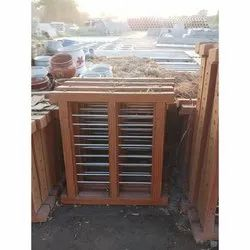 Wooden Window Frame With Rod