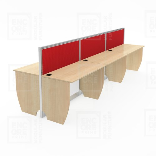 Wooden Linear With Both Side Sharing Workstations