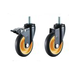 Polyurethane (PU Brown) Caster Wheels