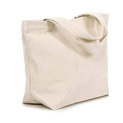 White Plain Natural Cotton Fiber Bags