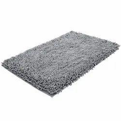 Grey Rectangular Bathroom Door Mat, Packaging Type: Packet