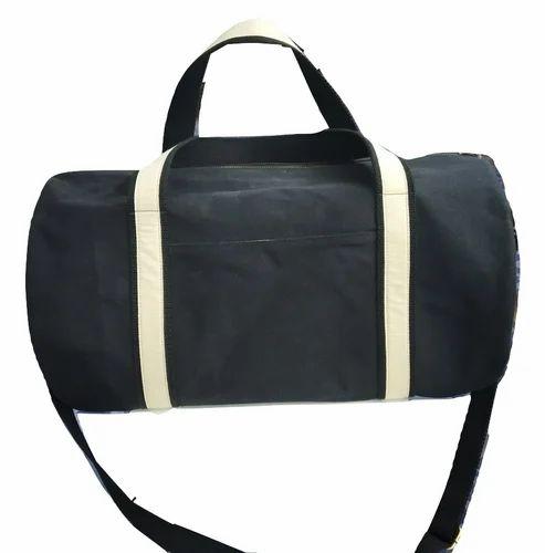 02359aba828 Dark Blue Plain Waxed Canvas Duffle Bag, Rs 1350  piece, Mon Exports ...