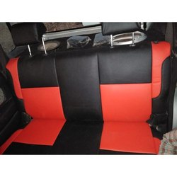 4 Wheeler Faux Leather Red And Black Car Seat Cover