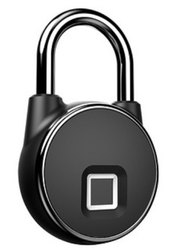 Normal Black Fingerprint Padlock Portable Smart Locks-MFPL1011, Packaging Size: <10 Piece