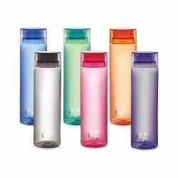Plastic Round Cello H2o Unbreakable Bottle, 1 Litre, Set Of 6, For Drinking Water, Size: 1000 Ml Each