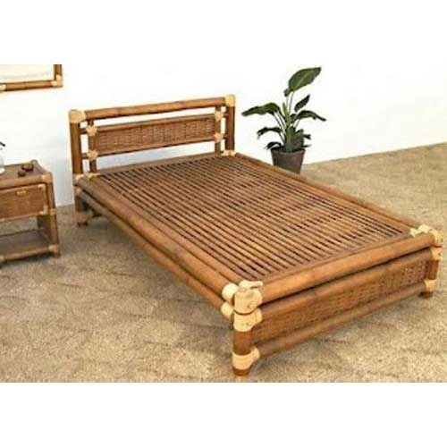 Cane Sofa Set Price In Delhi: Bamboo Double Bed At Rs 17000 /piece