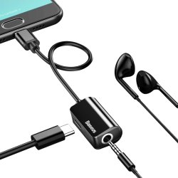 Black Baseus Bluetooth Earphone