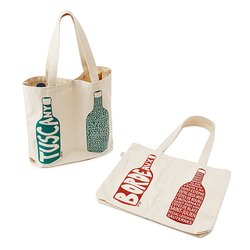 Wine Bags Canvas Cotton Fabric Wine Bottle Gift Bags For Wholesale Usa