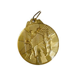 Gold Plated Basketball Brass Sports Medal