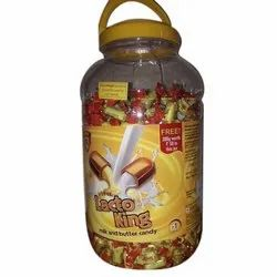 Milk and Butter Lotte Lacto King Sweet Candy, Packaging Type: Plastic Jar, Packaging Size: 110 Pieces