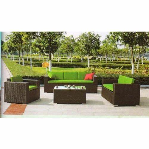Brown Rattan Outdoor Sofa Set
