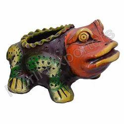 Terracotta Frog planter