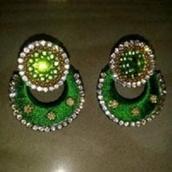 swakruti enterprises Silk Thread Earring, Shape: Chandbali