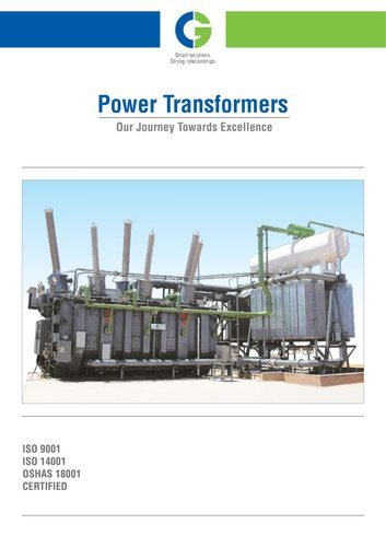 Crompton Greaves Oil Type Transformer ( CGL IS-1180 Level 2)