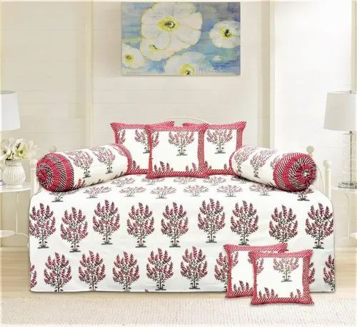 cotton printer diwan set