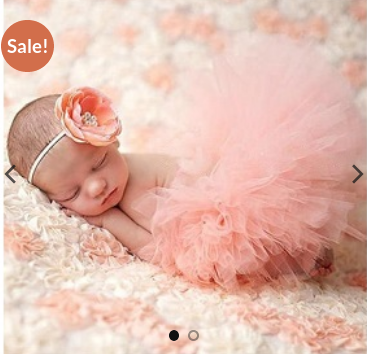 35dd34fa58d4 Peach Color Chiffon Little Birdie Newborn Baby Girls Tutu Skirt And Headband  Photo Prop Costume (