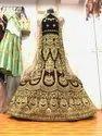 Bridal Heavy Embroidery Lehenga Velvet Maroon
