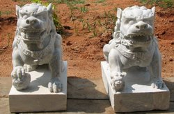 Stone Lion Sculptures