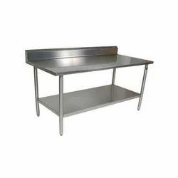 Stainless Steel Rectangular Work Table, Warranty: 1 Year