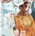 Party Wear Saree Cotton Looks 2