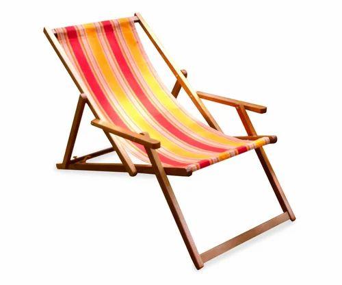 Wooden Deck Beach Outdoor Garden Chair Lounger