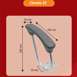 PU Chair Handle Chrome-42
