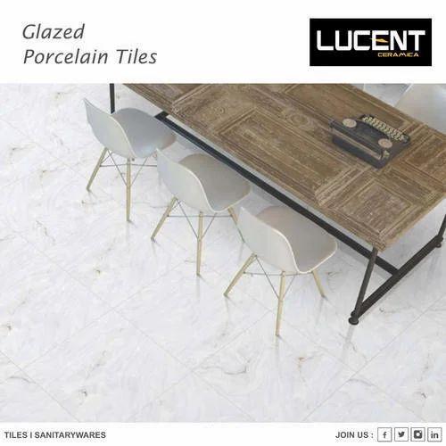 Lucent Porcelain Ceramic Glazed Tiles, Thickness: 5-10 mm