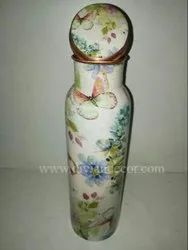 Floral Printed Copper Bottles